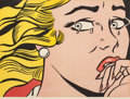 Prints, ROY LICHTENSTEIN (American, 1923-1997). Crying Girl, 1963. Offset lithograph in colors on wove paper. 17-1/8 x 23-1/4 in...