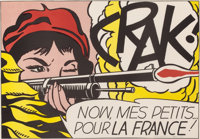 ROY LICHTENSTEIN (American, 1923-1997) Crak, 1964 Lithograph in colors 19-1/4 x 27-1/2 inches (48