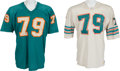 Football Collectibles:Uniforms, 1970's Wayne Moore Game Worn Miami Dolphins Jerseys Lot of 2. ...