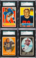Football Cards:Sets, 1956 & 1958 Topps Football Complete Sets Pair (2). ...