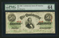 Confederate Notes:1863 Issues, T57 $50 1863 PF-15 Cr. UNL.. ...