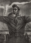 Fine Art - Work on Paper:Print, JOHN STEUART CURRY (American, 1897-1946). John Brown, 1939.Lithograph. 18-1/4 x 13-1/4 inches (46.4 x 33.7 cm) (sheet)...