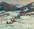 Fine Art - Painting, American:Modern  (1900 1949)  , ALDRO THOMPSON HIBBARD (American, 1886-1972). Up the Valley.Oil on canvas. 25 x 30 inches (63.5 x 76.2 cm). Signed lowe...(Total: 2 Items)