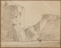 Fine Art - Work on Paper:Drawing, EDGAR ALWIN PAYNE (American, 1883-1947). Turn in Canyon deChelly, Arizona. Pencil on paper. 8-1/2 x 11 inches (21.6 x2...