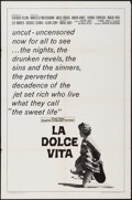 "Movie Posters:Foreign, La Dolce Vita (American International, R-1966). One Sheet (27"" X 41""), Photos (7), Reprint Photo (8"" X 10""), and Trimmed Pho... (Total: 16 Items)"