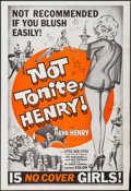 "Movie Posters:Sexploitation, Not Tonite, Henry (Foremost Films, 1961). One Sheet (27"" X 41"").Sexploitation.. ..."