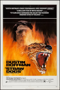 """Straw Dogs (Cinerama Releasing, 1972). One Sheets (2) (27"""" X 41"""") Review Style C & D. Crime. ... (Tota..."""