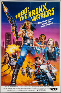 """1990: The Bronx Warriors & Other Lot (United Film Distribution, 1982). One Sheets (2) (27"""" X 41""""). Act..."""