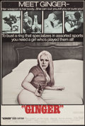 "Movie Posters:Sexploitation, Ginger & Other Lot (Joseph Brenner Associates, 1971). TrimmedOne Sheet (26.75"" X 40"") & One Sheet (27"" X 41"").Sexploitatio... (Total: 2 Items)"