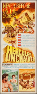 """Movie Posters:Action, Hercules Unchained (Warner Brothers, 1959). Insert (14"""" X 36"""").Action.. ..."""