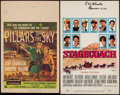 "Movie Posters:Western, Pillars of the Sky & Others Lot (Universal International,1956). Window Cards (4) (14"" X 21"" & 14"" X 22""). Western.. ...(Total: 4 Items)"