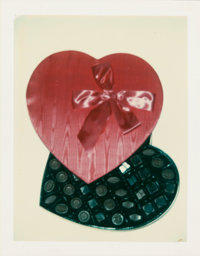 ANDY WARHOL (American, 1928-1987) Heart, c. 1970s Unique Polacolor Type 108 print 4-1/4 x 3-3/8 i
