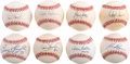 Autographs:Baseballs, 1990's-2000's St. Louis Cardinals Single Signed Baseball Collection Lot of 100....