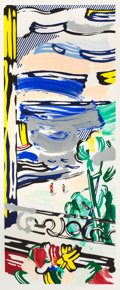 Prints:Contemporary, ROY LICHTENSTEIN (American, 1923-1997). View from the Window(from the Landscapes series), 1985. Lithograph,woo...