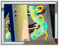 Prints:Contemporary, ROY LICHTENSTEIN (American, 1923-1997). Reflections onBrushstrokes (from the Reflections series), 1990.Lithogr...