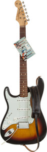 Musical Instruments:Electric Guitars, 1963 Fender Stratocaster Sunburst Solid Body Electric Guitar,Serial # 98377....