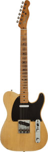 Musical Instruments:Electric Guitars, 1952 Fender Telecaster Blonde Solid Body Electric Guitar, Serial #4742....