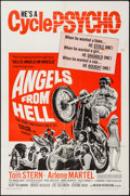 """Movie Posters:Exploitation, Angels from Hell (American International, 1968). One Sheet (27"""" X41""""). Exploitation.. ..."""