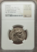 Ancients:Roman Provincial , Ancients: CYPRUS. Caracalla (AD 198-217). BIL tetradrachm (12.75gm)....