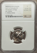 Ancients:Greek, Ancients: Lot of three silver drachms of the Thessalian League(2nd-1st centuries BC).... (Total: 3 coins)