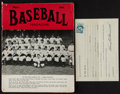 Baseball Collectibles:Others, New York Yankees Greats Multi Signed Magazine and Receipt....