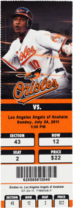Baseball Collectibles:Tickets, 2011 Mike Trout First Home Run Full Ticket. ...