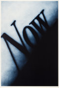 Prints, ED RUSCHA (American, b. 1937). Now, 1990. Lithograph in colors. 60 x 40 inches (152.4 x 101.6 cm). Ed. 32/60. Signed and...