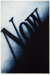 ED RUSCHA (American, b. 1937) Now, 1990 Lithograph in colors 60 x 40 inches (152.4 x 101.6 cm)