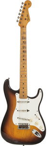 Musical Instruments:Electric Guitars, 1954 Fender Stratocaster Sunburst Solid Body Electric Guitar,Serial # 0041....