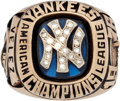 Baseball Collectibles:Others, 1976 New York Yankees American League Championship Ring Presented to Otto Velez....