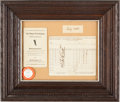 Autographs:Others, 1941 Babe Ruth Used & Signed Golf Score Card....