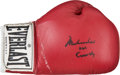 """Boxing Collectibles:Autographs, 1990's Muhammad Ali Signed Boxing Glove - Inscribed """"AKA Cassius Clay."""" ..."""
