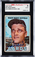Baseball Cards:Singles (1960-1969), Signed 1967 Topps #45 Roger Maris SGC Authentic. ...