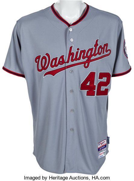 best cheap 17a6b f8278 2014 Stephen Strasburg Jackie Robinson Day Game Worn ...