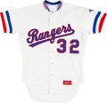 Baseball Collectibles:Uniforms, 1985 Gary Ward Game Worn Texas Rangers Jersey. ...
