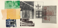 ROBERT RAUSCHENBERG (American, 1925-2008) 5:29 Bay Shore, 1981 Lithograph in colors with chine collé