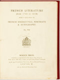 Books:Books about Books, [Bookseller's Catalog] French Literature (from 1700 to1928). Maggs Bros. Later plain cloth binding. Textblocktoned...