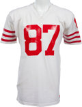 Football Collectibles:Uniforms, 1979-83 Dwight Clark Game Worn San Francisco 49ers Jersey, MEARS A10....