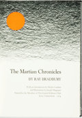 Books:Science Fiction & Fantasy, [Featured Lot] [Limited Editions Club] Ray Bradbury. SIGNED. The Martian Chronicles. With illustrations by Joseph Mu...