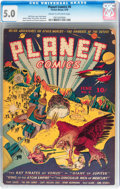Golden Age (1938-1955):Science Fiction, Planet Comics #6 (Fiction House, 1940) CGC VG/FN 5.0 Cream tooff-white pages....