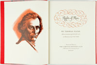 [Featured Lot] [Limited Editions Club] Lynd Ward, illustrator. SIGNED. Thomas Paine. The Rights of Man
