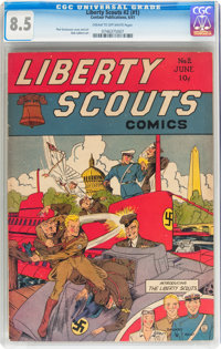Liberty Scouts Comics #2 (#1) (Centaur, 1941) CGC VF+ 8.5 Cream to off-white pages
