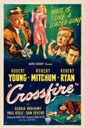 "Movie Posters:Film Noir, Crossfire (RKO, 1947). One Sheet (27.25"" X 41"").. ..."