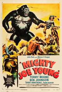 """Mighty Joe Young (RKO, 1949). One Sheet (27"""" X 41"""") Style A. Horror"""