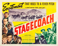 "Stagecoach (United Artists, 1939). Half Sheet (22"" X 28"") Style B"