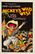 "Movie Posters:Comedy, Mickey's Wild West (FBO, 1928). One Sheet (26"" X 40"").. ..."