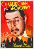 "Movie Posters:Mystery, Charlie Chan on Broadway (20th Century Fox, 1937). Swedish OneSheet (27.5"" X 39.5"").. ..."