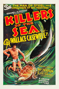 "Killers of the Sea (Grand National, 1937). One Sheet (27.5"" X 41"")"