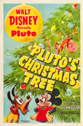 "Movie Posters:Animation, Pluto's Christmas Tree (RKO, 1952). One Sheet (27"" X 41"").. ..."