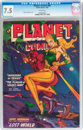 Golden Age (1938-1955):Science Fiction, Planet Comics #66 (Fiction House, 1952) CGC VF- 7.5 White pages....